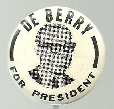 CLIFTON DeBERRY FOR PRESIDENT SOCIALIST WORKERS PARTY POLITICAL PIN
