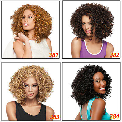 Fashion Ladies Short Synthetic Wig Afro Kinky Curly Shaggy Hair Full Wigs Wig