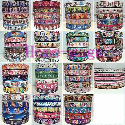 5 / 6 Yards Mixed A Lot  3/8''-1''   Printed Grosgrain Ribbon Wedding Crafts DIY