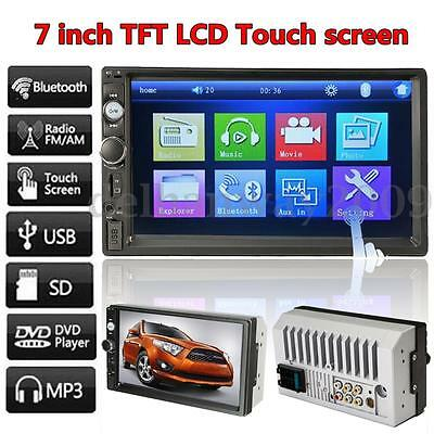 """7"""" HD Touch Screen 2DIN In Dash Car Stereo Bluetooth Radio FM MP4 MP5 Player Aux"""