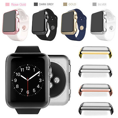 Fr Apple Watch Series 1/2/3 38/42mm Screen Protector Metal Plated Full Body Case