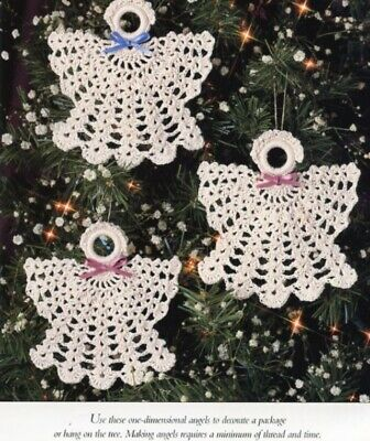 Pristine Angels Christmas Ornament Vanna Crochet PATTERN/INSTRUCTIONS NEW