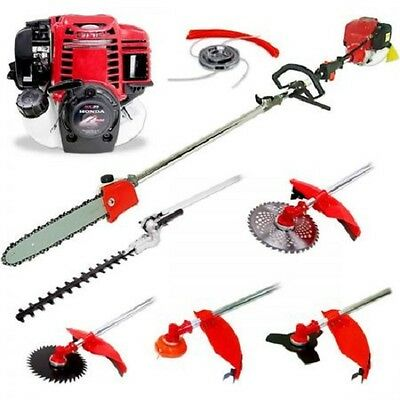NEW 49cc 4 Stroke 6 in 1 Multi-tool Brush Cutter Hedge Trimmer Pole Chainsaw