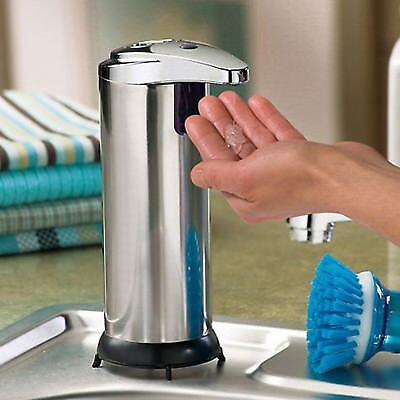 Hands Free Stainless Steel Automatic IR Sensor Touchless Soap Liquid Dispenser