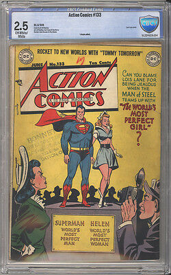 Action Comics # 133  The Perfect Girl !  CBCS 2.5 scarce Golden Age book !