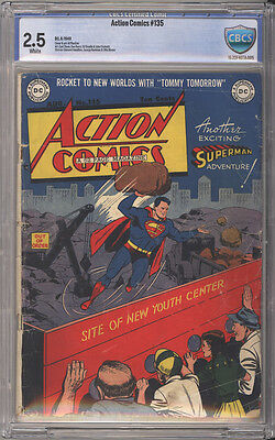Action Comics # 135  New Youth Center !  CBCS 2.5 scarce Golden Age book !