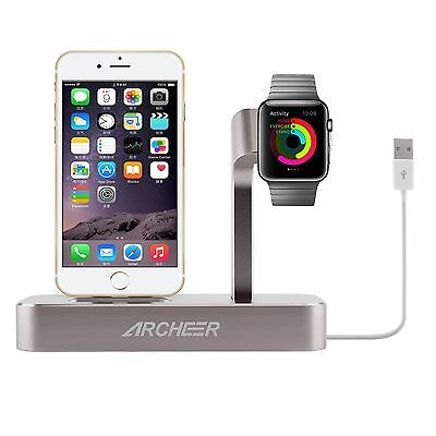 ARCHEER Lightning Charge For iPhone Apple Watch Dock Station Holder Stand  USB