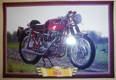 Tribsa Triumph Bsa Classic Cafe Racer Motorcycle Bike 1990's  Print Picture 1992