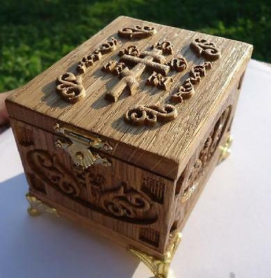 Exclusive Traditional Orthodox Set for Baptism. Baptismal Wooden Box #07