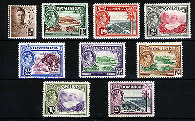 DOMINICA King George VI 1938-47 Pictorial Issue Part Set SG 99 to SG 109 MINT