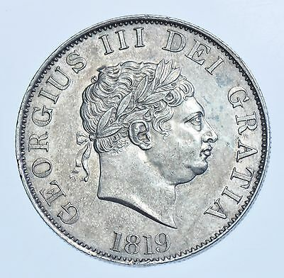 1819 Halfcrown British Silver Coin From George Iii Ef