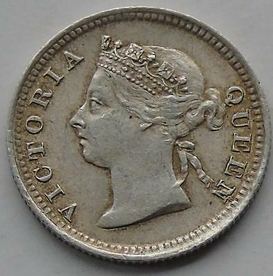 Nice Hong Kong Queen Victoria Silver 5 Cents dated 1897, British Colony KM# 5