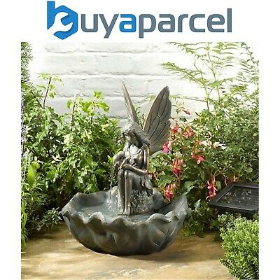 Smart Garden Solar Fairy Leaf Garden Water Feature Fountain Bird Bath 1170341