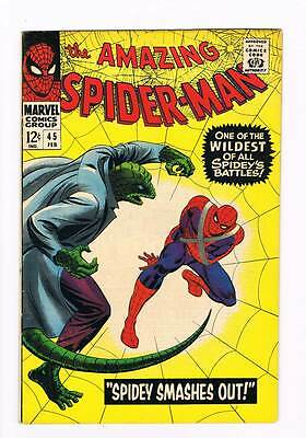 Amazing Spider-Man # 45  Spidey Smashes Out grade 7.5 scarce hot book !!
