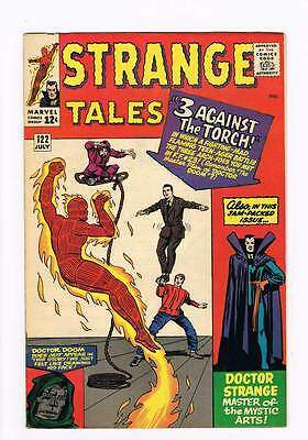 Strange Tales # 122 Three against the Torch ! grade 6.0  scarce hot book !