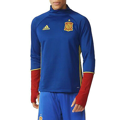 adidas Performance Mens Spain 2016-17 Football Soccer Training Top - Blue