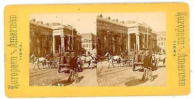 New York City NYC -THE TOMBS JAIL/PRISON- c1880s Stereoview
