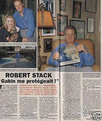 Coupure de presse Clipping 1995 Robert Stack (1 page 1/3)