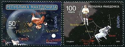 MACEDONIA Sc.# 474-75 Europa 2009 Astronomy Stamps