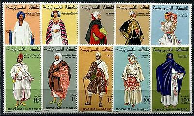 MOROCCO Sc.# 198A-206 Costumes Stamps