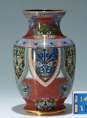 Große chinesische Cloisonné Vase            #as099