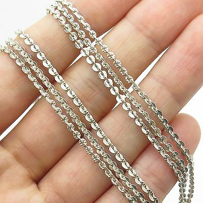 Italy Milor 925 Sterling Silver Multi Strand Cable Link Anklet 9 3/4""