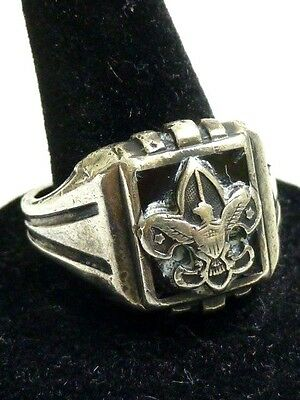Men's Size 10.5 Sterling Boy Scouts of America Eagle Scout Ring