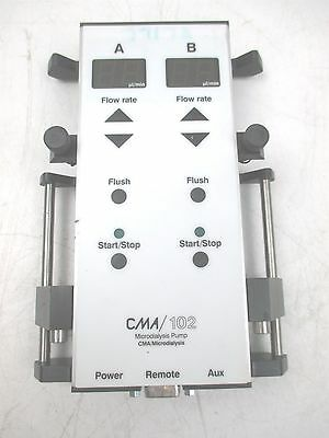 CMA 102 Microdialysis Pump Unit Flow Rate Variable 0.1 to 20 ul/min Dialysis