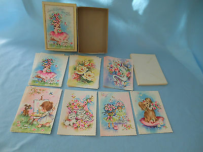 vintage Adorable Greetings Birthday card cards assortment 14 box