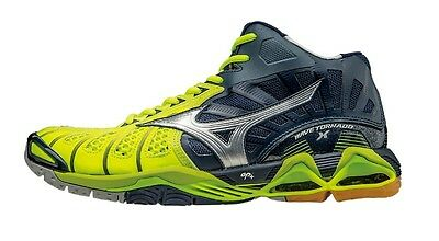 Mizuno Wave Tornado X MID Men's Volleyball Shoes NEW Navy/Yellow Size 9