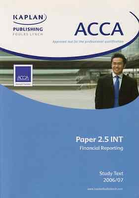 Acca Paper 2.5 Int Financial Reporting: Unit 2.5 Study  - Paperback NEW Publishi