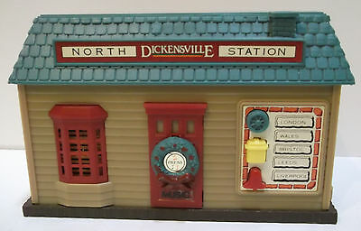 NORTH HARBORTOWN STATION DICKENSVILLE MUSICAL TRAIN STATION w/ TRAIN SOUNDS
