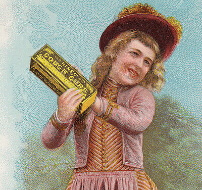 Charles E Hires Cough Cure 1890 Cold Remedy Authentic Old Advertising Trade Card