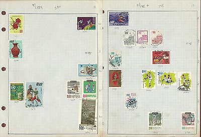 China Collection on 19 Quad Pages, Nice Variety Used Lot