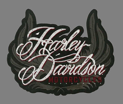 Harley-Davidson Studded Allure Wings X-Large 9.5 INCH EM1300304 PATCH