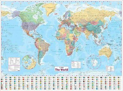 Collins World Wall Laminated Map by Collins Maps 9780007493104