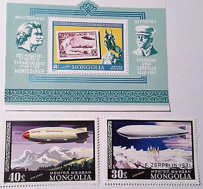 Mongolia  Souvenir Sheet And Stamps   Mint/nh  .......worldwide Stamps