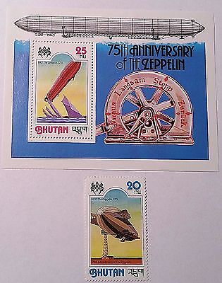 Bhutan   Souvenir Sheet And Stamps   Mint/nh  .......worldwide Stamps