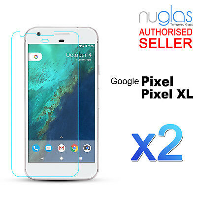 2x GENUINE NUGLAS 9H Tempered Glass Screen Protector For Google Pixel / Pixel XL