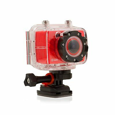 Nabi Square HD Action Camera KIDS Camcorder Video Camera 1080P Waterproof KIT