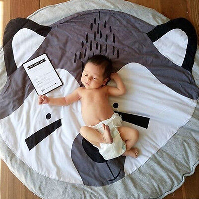 New Cotton Baby Kids Game Gym Activity Play Mat Crawling Blanket Floor Rug RH
