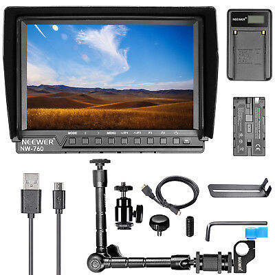 "Neewer NW-760 7"" Full HD 1920x1200 Camera Field Monitor Kit for Sony Canon Nikon"