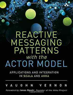 Reactive Messaging Patterns with the Actor Model: Appli - Hardcover NEW Vaughn V