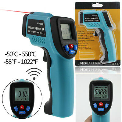 Non-Contact IR Infrared Laser Digital Temperature Thermometer Gun -50 ~ 550℃ CA