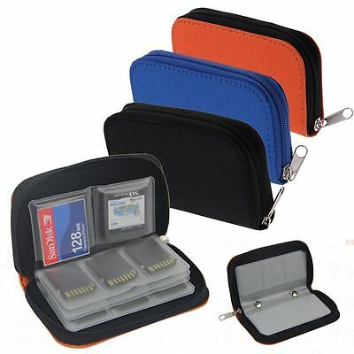 22 Slots CF Micro SD SDHC MMC Camera Memory Card Holder Storage Carry Pouch Case