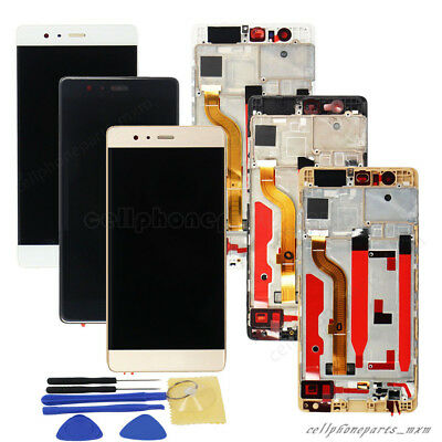 For Huawei P9 LCD Display Touch Screen Digitizer With Frame Replacement + Tools