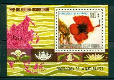 Equatorial Guinea Michel BLK 310 MNH Protection of Environment Flowers Map $$