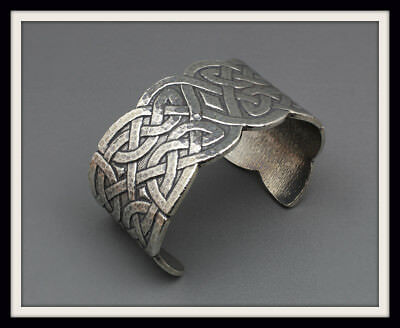 Celtic Knot Bangle Bracelet ~ Pewter ~ From St. Justin ~ Free P&p ~ Uk Made