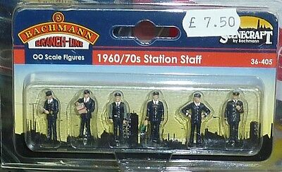 Bachmann 00 Gauge Figures - (36-405) 1960/70's Station Staff - New
