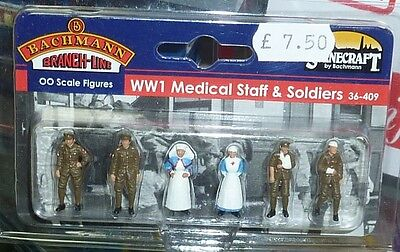 Bachmann 00 Gauge Figures - (36-409) Ww1 Medical Staff & Soldiers - New
